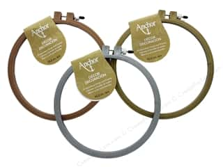 sewing & quilting: Coats & Clark Anchor Hoop & Frame Decor 6 in. Assorted