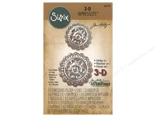embossing machine: Sizzix Embossing Folders Tim Holtz 3D Impresslits Medallion