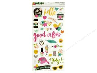 scrapbooking & paper crafts: Simple Stories Collection Good Vibes Chipboard 6 in. x 12 in.