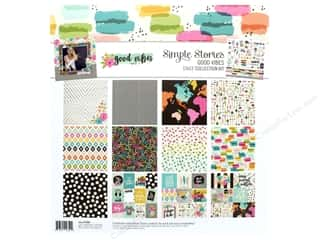 Simple Stories Collection Good Vibes Collection Kit 12 in. x 12 in.