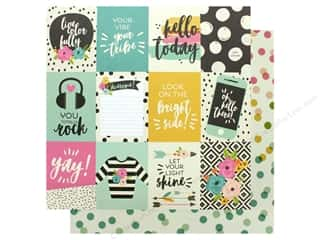 Simple Stories Collection Good Vibes Paper 12 in. x 12 in. Elements 3 in. x 4 in. (25 pieces)