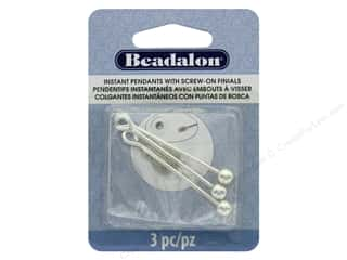 beading & jewelry making supplies: Beadalon Findings Instant Pendant Round 36.6 mm x 1.6 mm Silver 3 pc