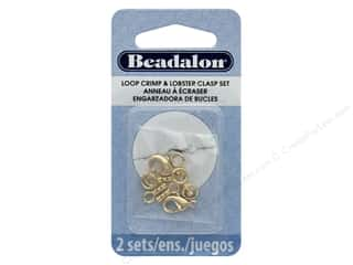 craft & hobbies: Beadalon Clasp Lobster Loop Crimp Set 1 mm Gold 10 pc