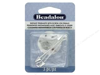 beading & jewelry making supplies: Beadalon Instant Pendant 6 x 7.5 mm Cone Screw-on Finials 3 pc. Silver