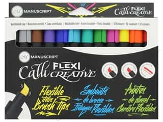 craft & hobbies: Manuscript Callicreative Marker Flexi Tip 12 pc
