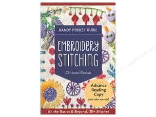 C&T Publishing Embroidery Stitching Handy Pocket Guide Book