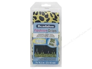 beading & jewelry making supplies: Beadalon Fashion Grips Bag Cheetah Yellow