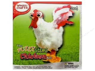 craft & hobbies: Pepperell Kit Fuzzy Stem Animal Chicken