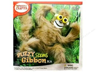 craft & hobbies: Pepperell Kit Fuzzy Stem Animal Gibbon