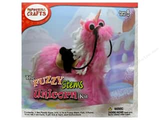 craft & hobbies: Pepperell Kit Fuzzy Stem Animal Unicorn