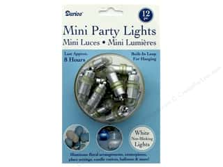 decorative floral: Darice Light Mini Party 12 pc