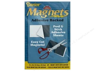 craft & hobbies: Darice Magnet Adhesive Back 4 in. x 6 in. 3 pc
