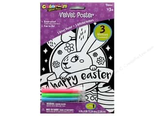 craft & hobbies: Darice Color In Velvet Poster 6 in. x 9 in. Bunny Easter