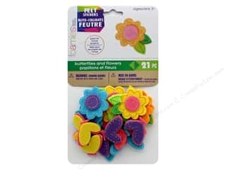 Darice Felties Sticker Butterflies & Flowers 21 pc