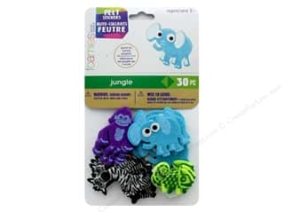 Felt: Darice Felties Sticker Jungle 30 pc