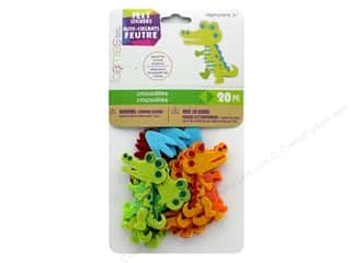 Darice Felties Sticker Crocodiles 20 pc