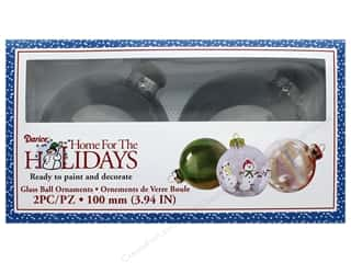 craft & hobbies: Darice Decor Holiday Glass Ornament Ball 3.94 in. 2 pc