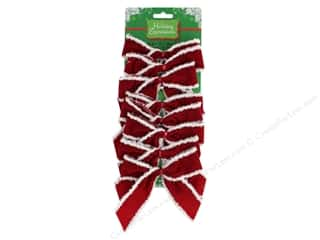 Darice Decor Holiday Velvet Bow 5 in. x 4.5 in. Red