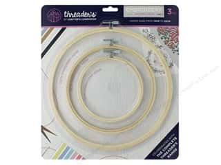 Crafter's Companion Threaders Wooden Embroidery Hoop Set