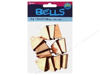 Darice Bells Cow 1.25 in. Copper 12 pc