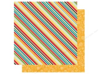 Clearance: Echo Park Collection Back To School Paper 12 in. x 12 in. School Stripes (25 pieces)