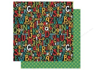 Clearance: Echo Park Collection Back To School Paper 12 in. x 12 in. Alpha Scramble (25 pieces)