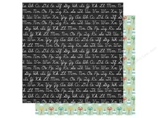Clearance: Echo Park Collection Back To School Paper 12 in. x 12 in. Chalkboard (25 pieces)