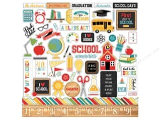 Clearance: Echo Park Collection Back To School Sticker 12 in. x 12 in. Elements (15 sets)