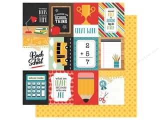 Clearance: Echo Park Collection Back To School Paper 12 in. x 12 in. Journal Cards 3 in. x 4 in. (25 pieces)