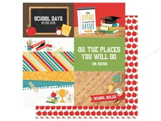 school ruler: Echo Park Collection Back To School Paper  12 in. x 12 in. Journal Cards 4 in. x 6 in. (25 pieces)