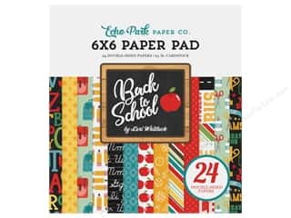 Clearance: Echo Park 6 x 6 in. Paper Pad Back To School