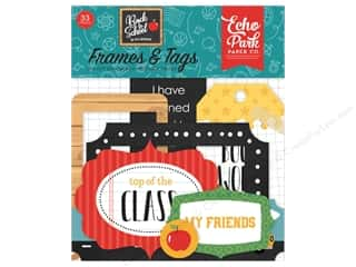 Clearance: Echo Park Collection Back To School Ephemera Frames/Tags