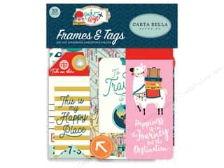 Carta Bella Pack Your Bags Ephemera Frame & Tag
