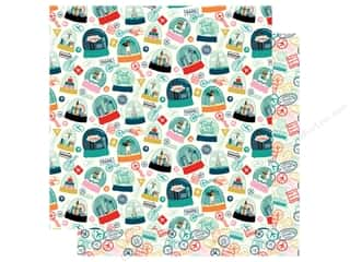 "Carta Bella Pack Your Bags Paper 12""x 12"" Happy Place (25 pieces)"
