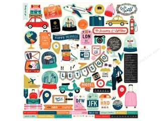 scrapbooking & paper crafts: Carta Bella Pack Your Bags Sticker 12 in. x 12 in. (15 pieces)