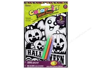 Darice Color In Velvet Poster 6 in. x 9 in. Halloween