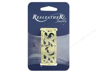 craft & hobbies: REALEATHER by Silver Creek Findings Filigree Bracelet 1 in. Gold Francisco