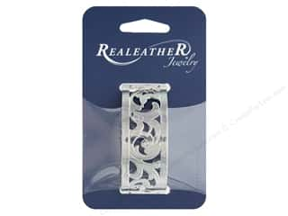 REALEATHER by Silver Creek Findings Filigree Bracelet 1 in. Chrome Francisco
