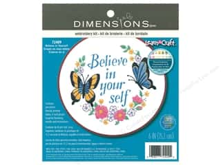 Dimensions Embroidery Kit 6 in. Believe In Yourself