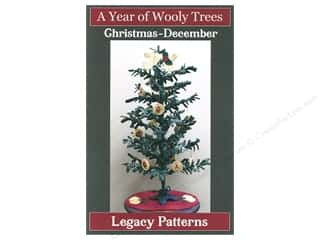 books & patterns: Legacy Patterns Wooly Trees December Christmas Pattern