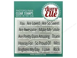 stamp cleaned: Avery Elle Clear Stamp Simply Said You