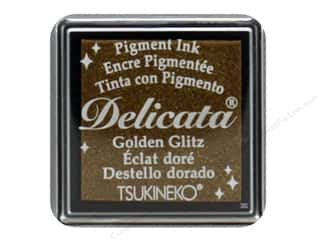 scrapbooking & paper crafts: Tsukineko Delicata Pigment Ink Pad Small Golden Glitz