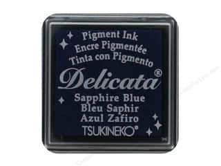 stamp cleaned: Tsukineko Delicata Pigment Ink Pad Small Sapphire Blue