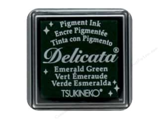 stamp cleaned: Tsukineko Delicata Pigment Ink Pad Small Emerald Green