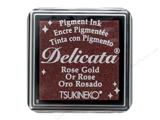 Tsukineko Delicata Pigment Ink Pad Small Rose Gold