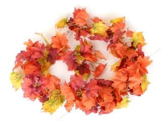 craft & hobbies: Darice Fall Garland Chain Maple Leaves 7 ft
