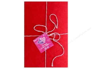 craft & hobbies: Darice Felties Sheet Valentine 6 in. x 9 in. Value Pack Red Pink White