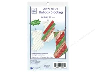 June Tailor Quilt As You Go Cotton/Polyester Holiday Stocking Pattern on Batting