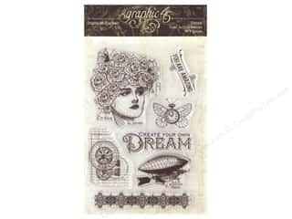Graphic 45 Collection Imagine Clear Stamp Dream