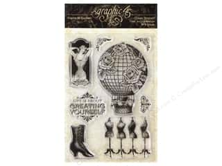 scrapbooking & paper crafts: Graphic 45 Collection Imagine Clear Stamp Create Yourself